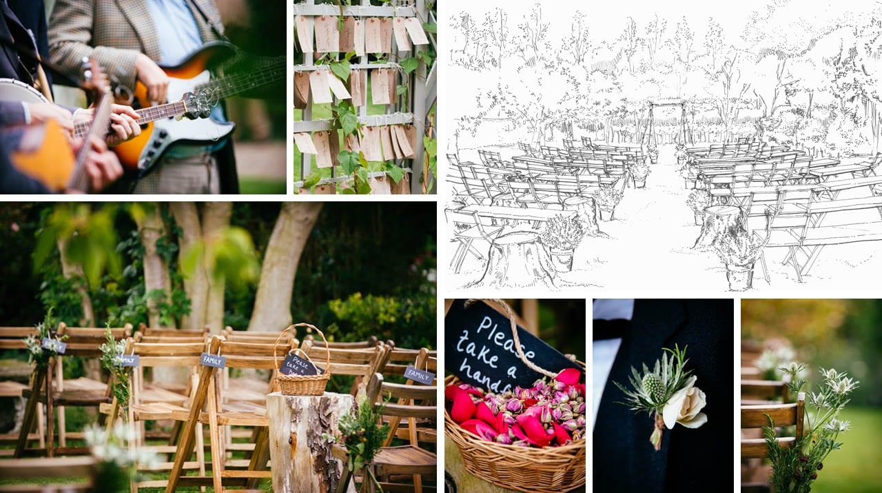 Summer Garden Wedding Sketches