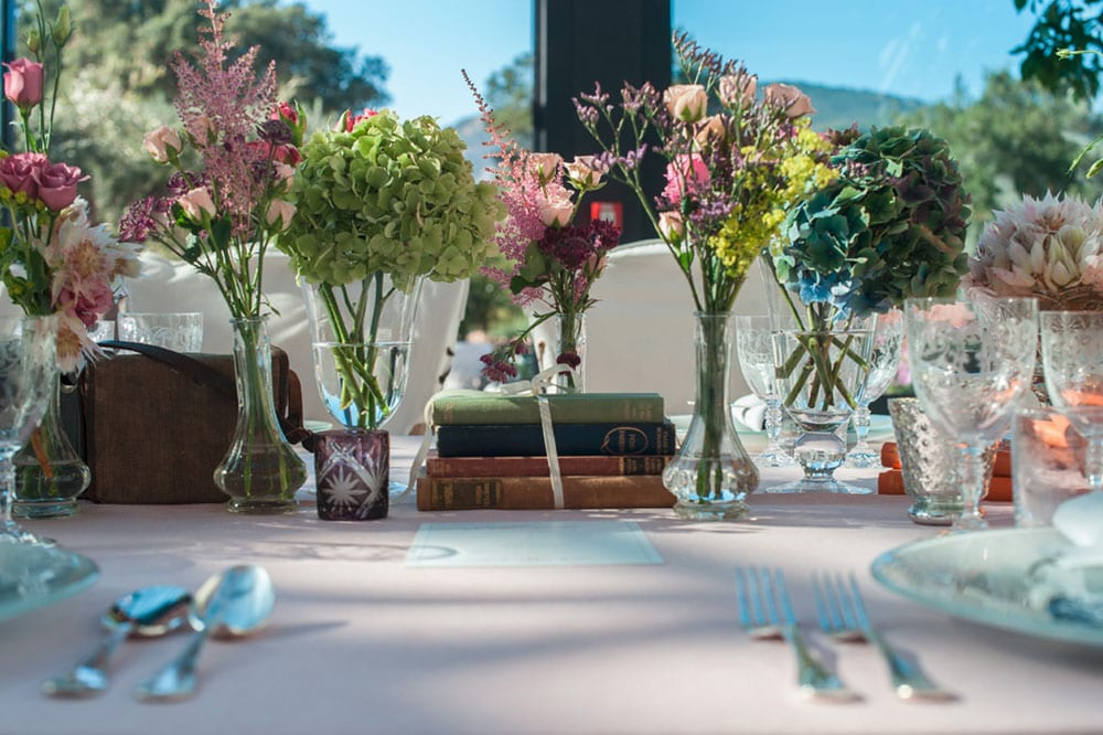 Beautiful floral tablescape at Le Beauvallon for the perfect destination wedding