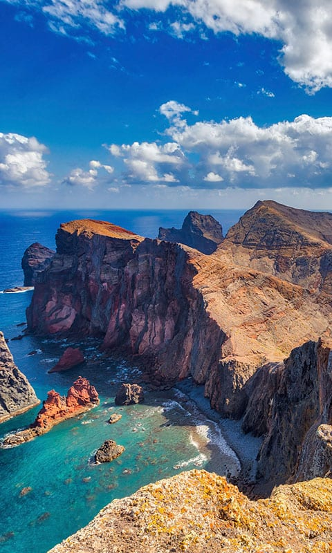 Rugged landscape of Madeira Island in Portugal