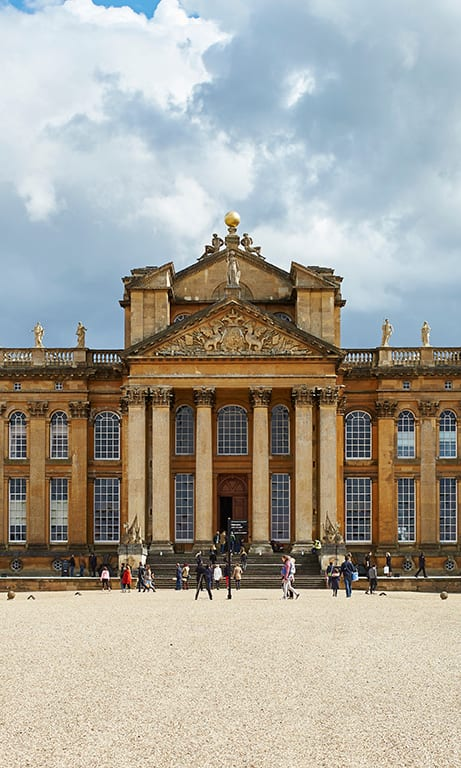 Stunning exterior of lavish wedding venue Blenheim Palace, Oxfordshire