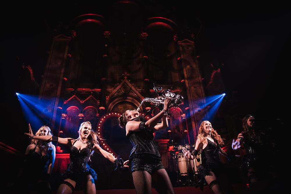 The IT Girls performing at a lavish private event in London with Moulin Rouge theme