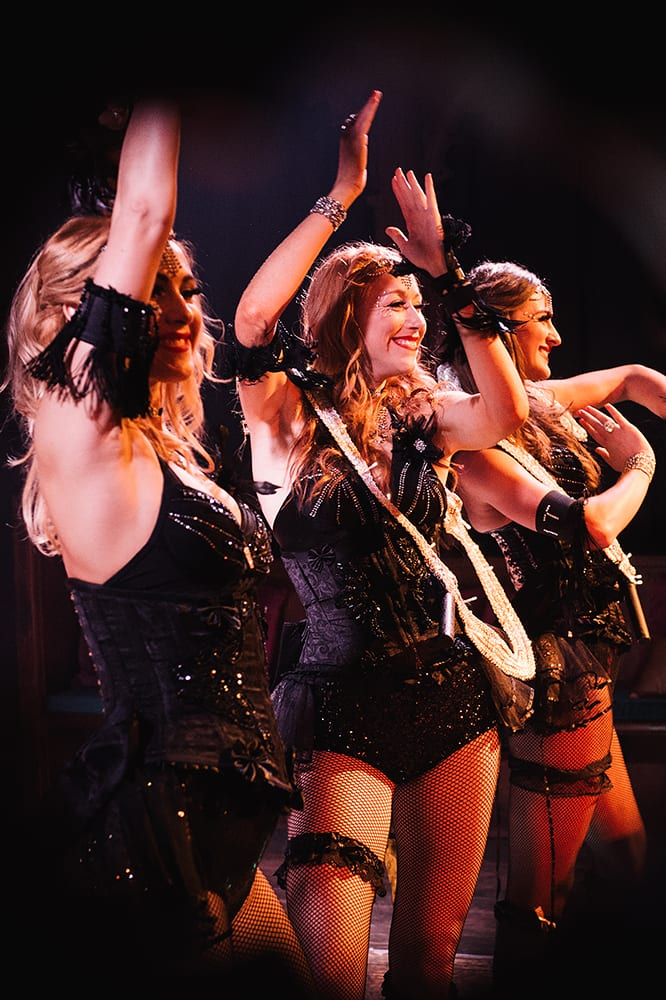 The IT Girls performing at a celebrity birthday party in London