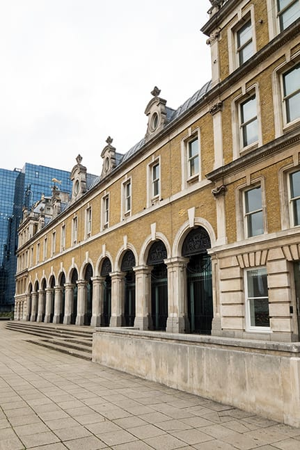 The exterior of the Old Billingsgate event venue in London