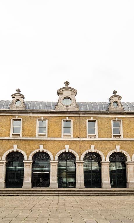 Outside of the Old Billingsgate venue in London
