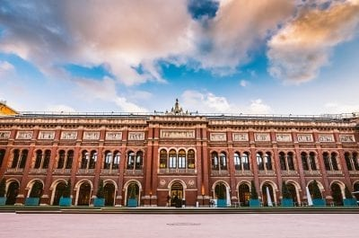 Panoramic view of Victoria and Albert museum