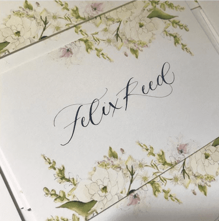 Wedding illustration and calligraphy
