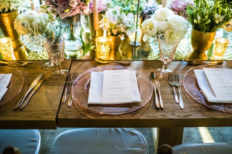 Tablescape for private party