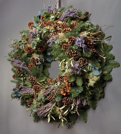 photo credit wild at heart the scented lavender wreath - Beautiful Christmas Wreaths